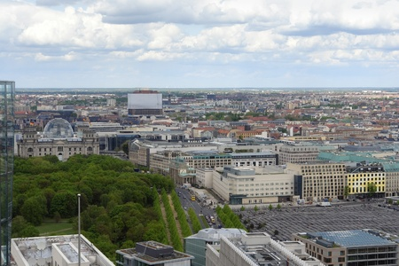 aerial view of Berlin (Germany) from the Daimler-Chrysler building photo