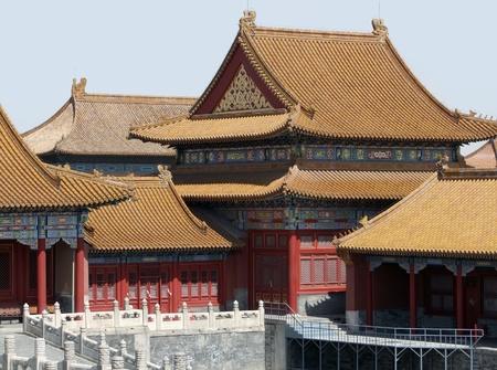 iluminated: soleado paisaje iluminado de arquitectura dentro de la Ciudad Prohibida de Pek�n (China). La Ciudad Prohibida fue el palacio imperial de la Dinast�a Ming hasta el final de la dinast�a Qing