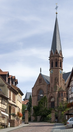 summertime scenery including a city view of Miltenberg, a small town in Southern Germany Stock Photo - 10914259
