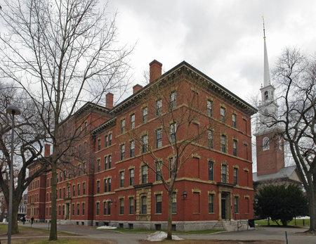 Grays Hall at Harvard Yard in Cambridge (Massachusetts, USA) at winter time