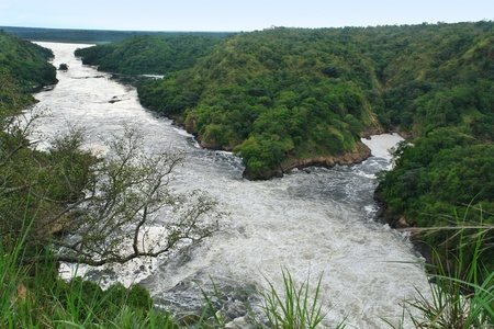 high angle view around the Murchison Falls in Uganda (Africa)  Stock Photo - 10917356