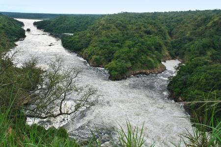 high angle view around the Murchison Falls in Uganda (Africa) Stock Photo - 10917356