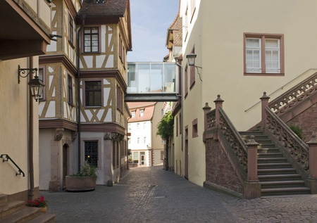the idyllic Old Town in Wertheim am Main (Southern Germany) at evening time Stock Photo - 11044513