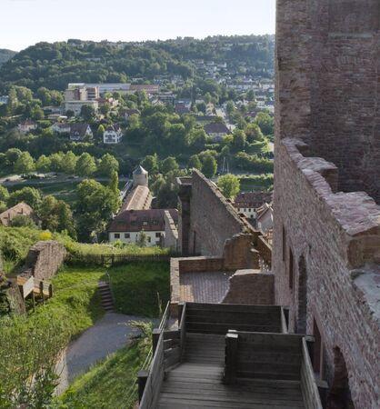 wertheim: high angle scenery around Wertheim Castle in Southern Germany