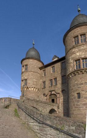 wertheim: detail of the Wertheim Castle near Wertheim am Main in Southern Germany Editorial