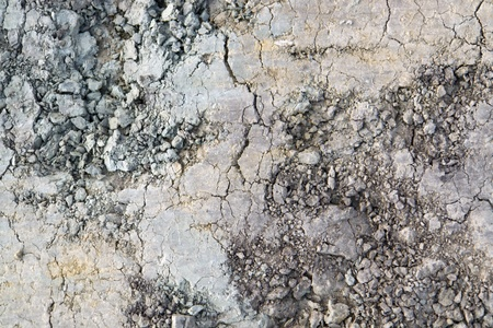 full frame natural background with multicolored dry loam photo
