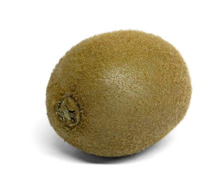 actinidia deliciosa: kiwi fruit in white back with shadow