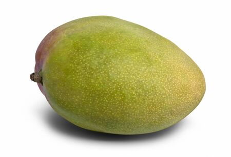 mango fruta: fruta del mango en la parte trasera blanco con la sombra y el trazado de recorte Foto de archivo