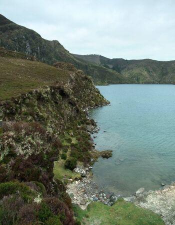 idyllic seaside scenery at Sao Miguel Island photo