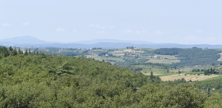 scenery around Gaiole near Castle of Brolio in the Chianti region of Tuscany in Central Italy Stock Photo - 10916862