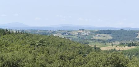 scenery around Gaiole near Castle of Brolio in the Chianti region of Tuscany in Central Italy Stock Photo - 10916862