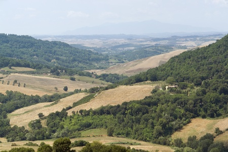 bowery: panoramic scenery located in the Chianti region of Tuscany, a area in Italy (Southern Europe) Stock Photo