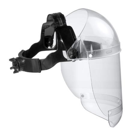 protection individuelle: photographie en studio d'un gardien de face dans le dos blanc
