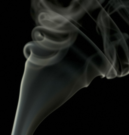 wavily: abstract picture showing some smoke in dark back