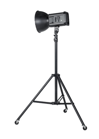 professional studio flashlight isolated on white with clipping path Stock Photo - 10917649