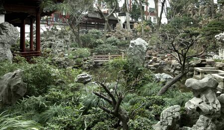 detail of the historic Yuyuan Garden in Shanghai (China).The garden was created in the year 1559 by Pan Yunduan photo