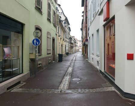 scenery in Colmar showing a small street(AlsaceFrance)