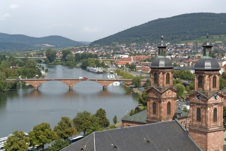 aerial view of Miltenberg, a small town in Southern Germany photo