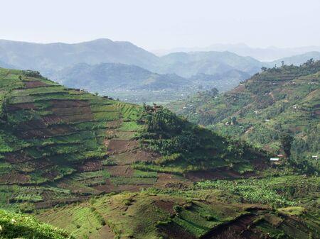 aerial view around the Virunga Mountains in Uganda (Africa) photo