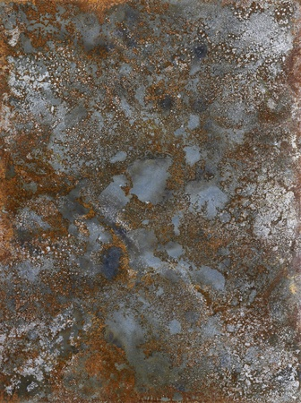 picture painted by me, named Corrosion. It shows a abstrackt modified corroded and tarnished metallic surface photo