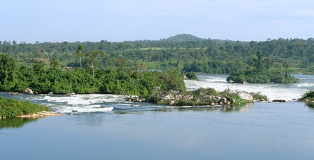 waterside scenery showing the River Nile near Jinja in Uganda (Africa) Stock Photo - 11933946