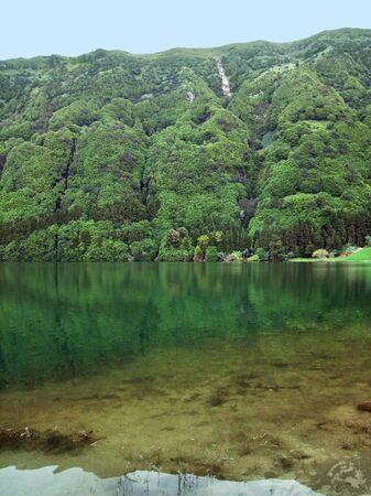 idyllic lakeside scenery at S photo