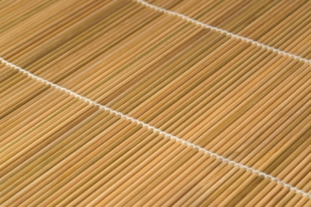 abstract detail of a brown wooden mat photo