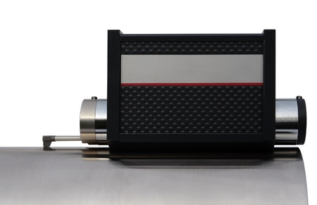 specificity: studio photography of a surface measuring instrument isolated on white with clipping path