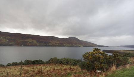 waterside: waterside landscape near Ullapool in Scotland Stock Photo