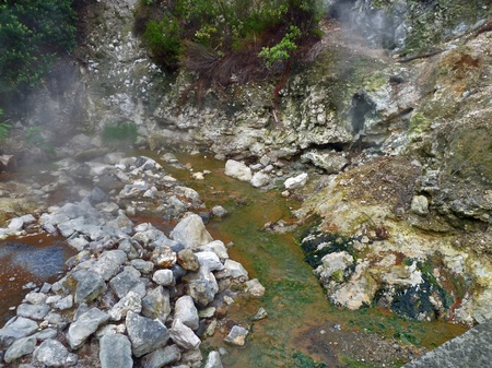 moistness: hot spring detail at Sao Miguel Island Stock Photo