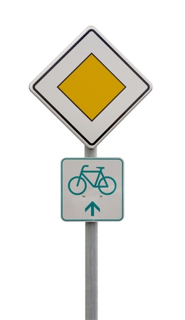 symbolization: german traffic sign isolated on white