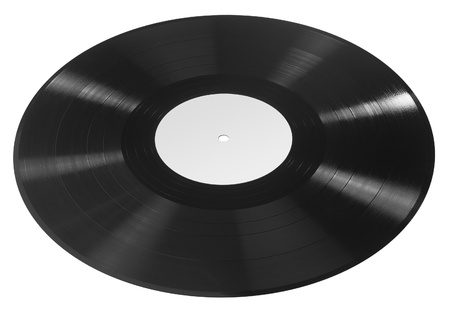 record in white back