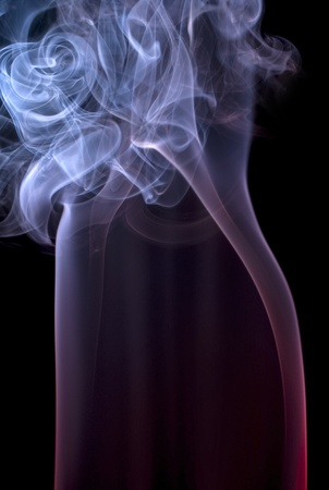 particulates: abstract picture showing some colored smoke in dark back