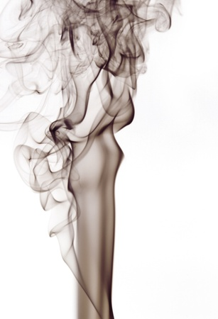 particulates: abstract picture showing some smoke in white background