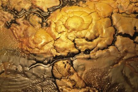 wet pastose paint detail in warm colors photo