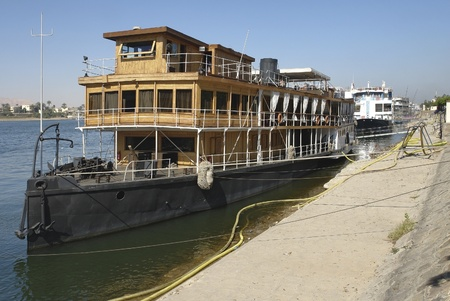 paddle wheel: a paddle wheel steamer on River Nile in Egypt