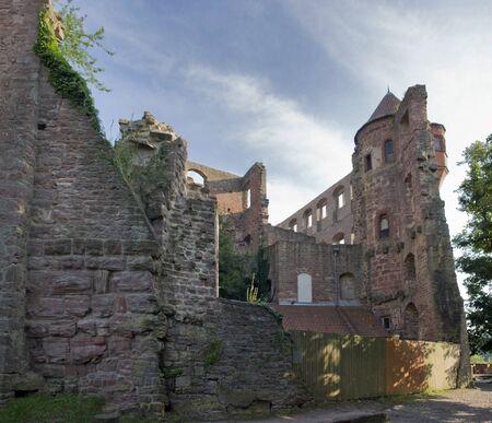 wertheim: Wertheim Castle near Wertheim am Main in Southern Germany at evening time