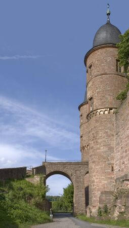 wertheim: detail of the Wertheim Castle in Southern Germany in sunny ambiance