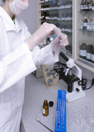 a woman working in a medical lab Stock Photo - 10986108