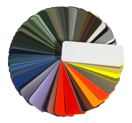 Studio Photography Of A Full Spread Color Chart Isolated Stock Photo