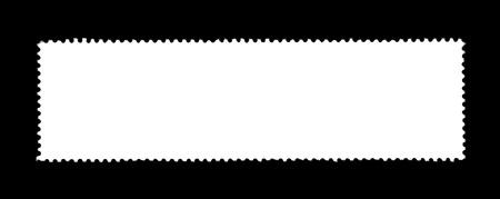 severed: unlabeled white stamp in black back Stock Photo