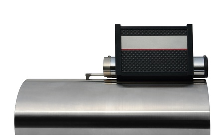 specificity: studio photography of a surface measuring instrument isolated on white