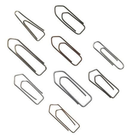 studio shot of different paper clips with clipping path Stock Photo - 10984419