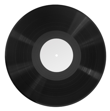 record in white back photo