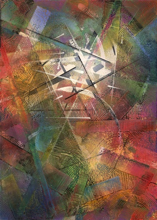 synonym: abstract colorful picture painted by me, named Constructive Stock Photo