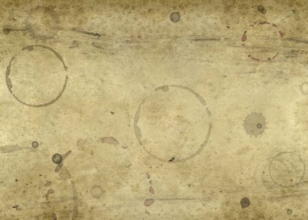 taint: abstract full frame background showing a piece of old brown paper with lots of blots and spots