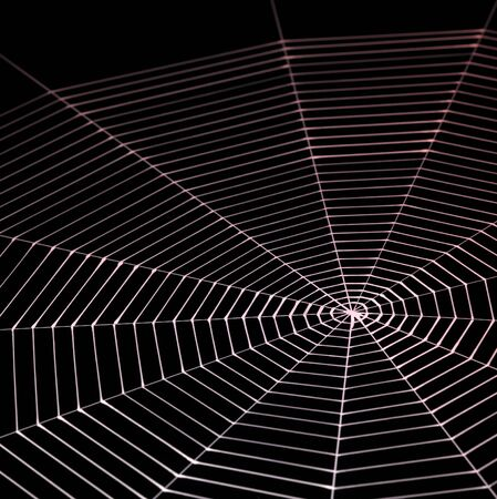 spiderweb: abstract background with symbolic painted spiderweb in dark back Stock Photo