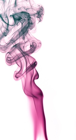 wavily: abstract picture showing some red smoke in white background