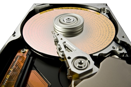 modified hard disk detail with symbolic data photo