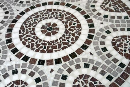 full frame: full frame flagstone mosaic detail in pastel colors Stock Photo